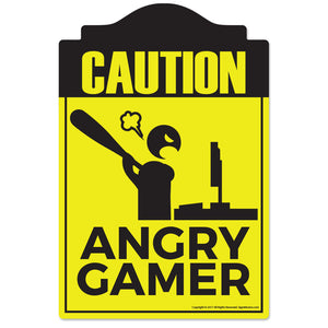 Angry Gamer Vinyl Decal Sticker