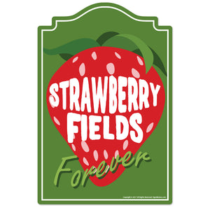 Strawberry Fields Forever Vinyl Decal Sticker