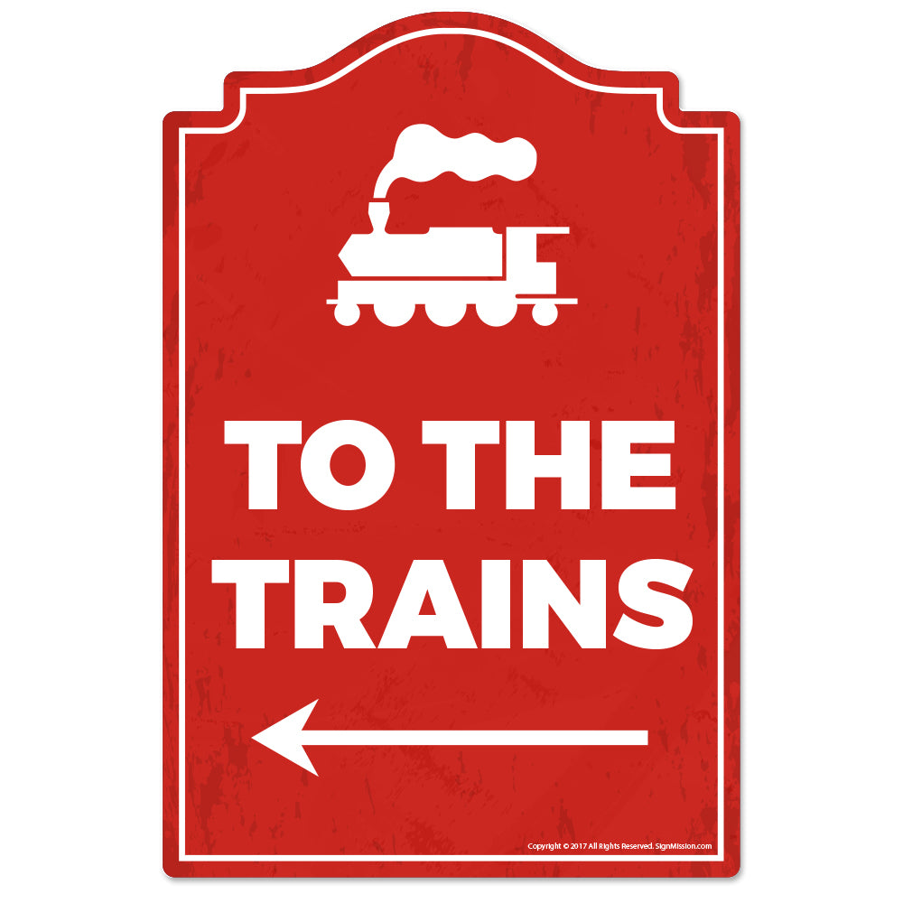 To The Trains Vinyl Decal Sticker