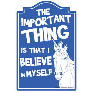 Unicorn Believe In Myself Vinyl Decal Sticker