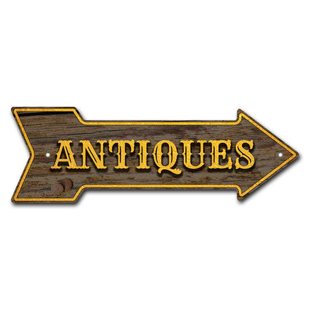 Antiques Arrow Sign