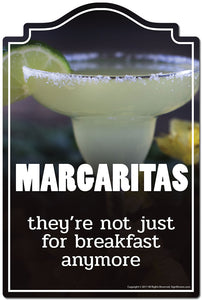 "Margaritas They're Not Just For Breakfast Anymore 3 pack of stickers 3.3"" X 5"" Vinyl Decal Sticker"