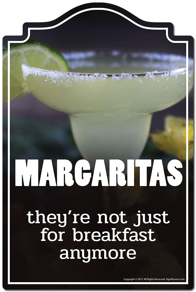 Margaritas They're Not Just For Breakfast Anymore 3 pack of stickers 3.3