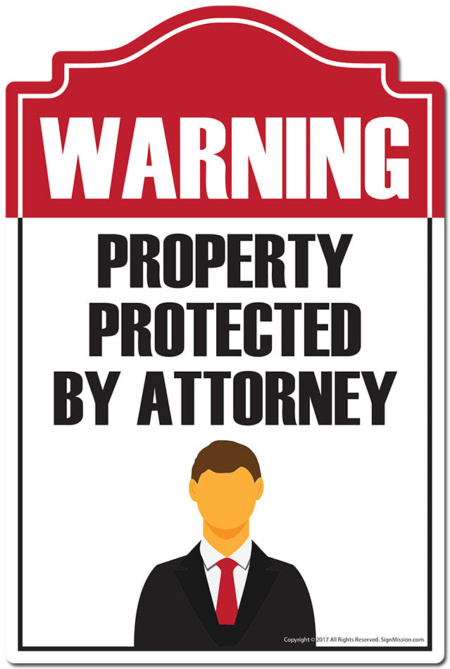 Property Protected By Attorney 3 pack of Vinyl Decal Stickers 3.3