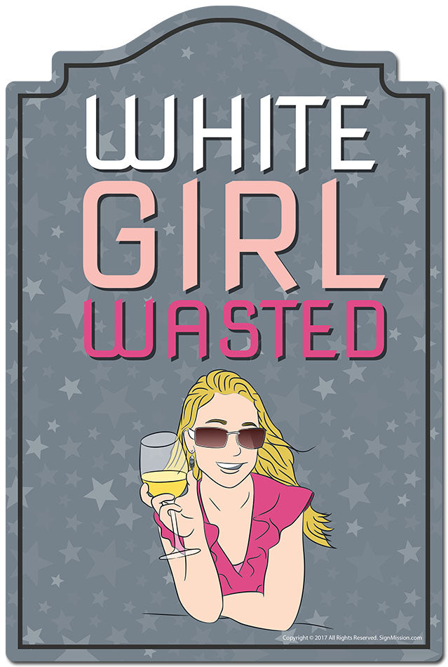 White Girl Wasted 3 pack of Vinyl Decal Stickers 3.3