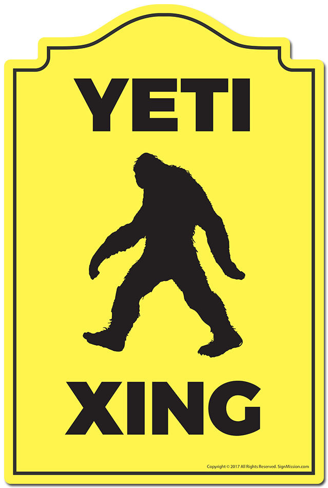 Yeti Xing 3 pack of Vinyl Decal Stickers 3.3