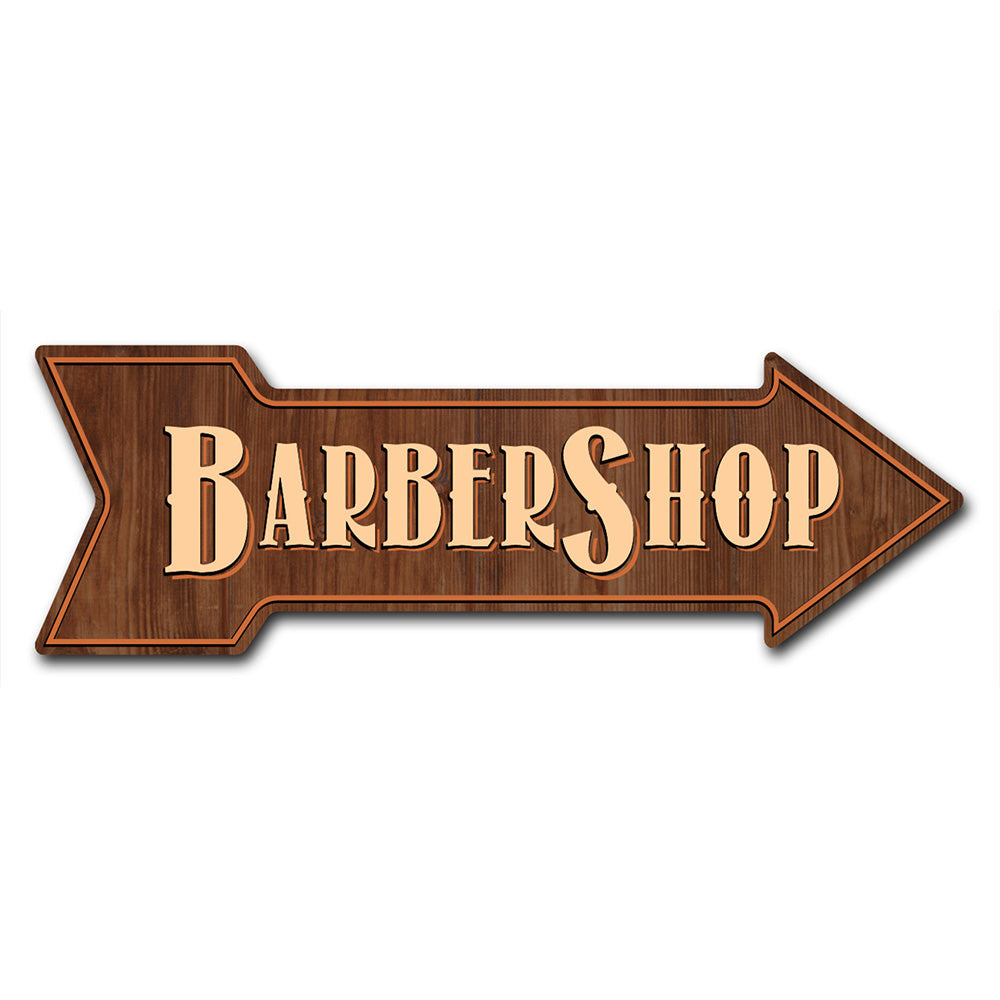 Barber Shop Arrow Sign