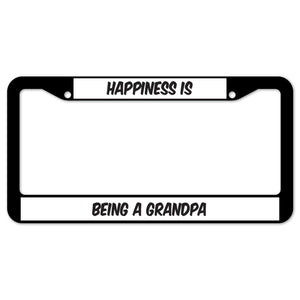 Happiness Is Being A Grandpa License Plate Frame
