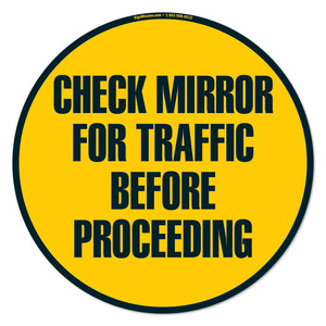 Check Mirror For Traffic