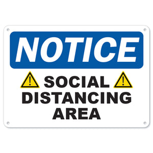 Caution Social Distancing Area