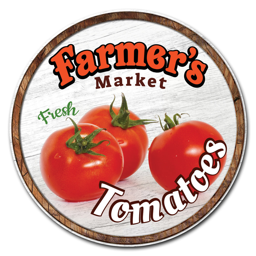 Farmer's Market Tomatoes Circle