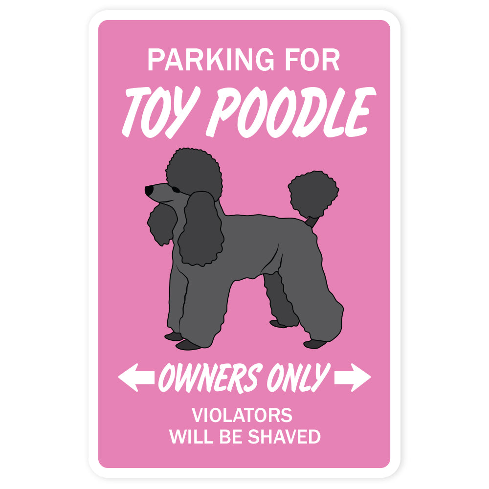 Toy Poodle Vinyl Decal Sticker