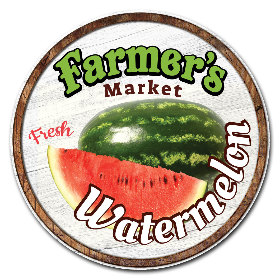 Farmer's Market Watermelon Circle