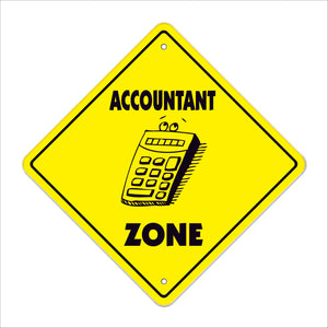 Accountant Crossing Sign