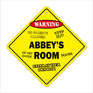 Abbey's Room Sign