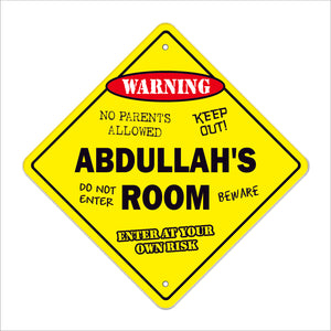 Abdullah's Room Sign