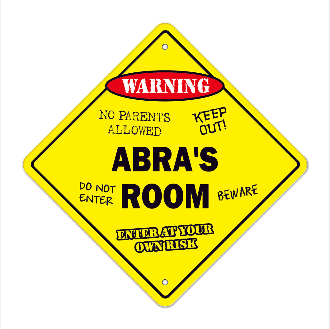 Abra's Room Sign