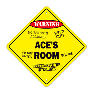 Ace's Room Sign