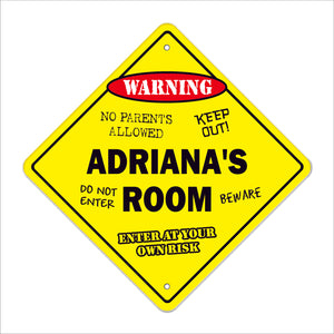 Adriana's Room Sign