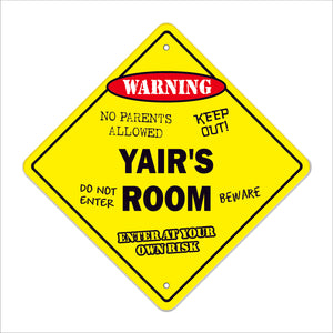 Yair's Room Sign