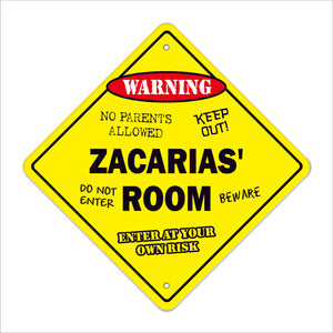 Zacarias' Room Sign