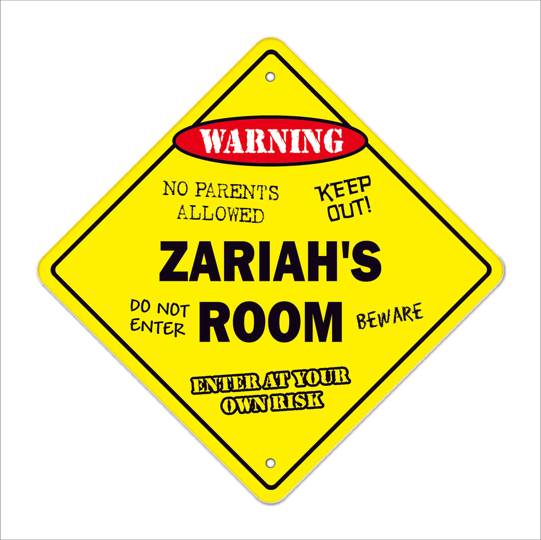Zariah's Room Sign