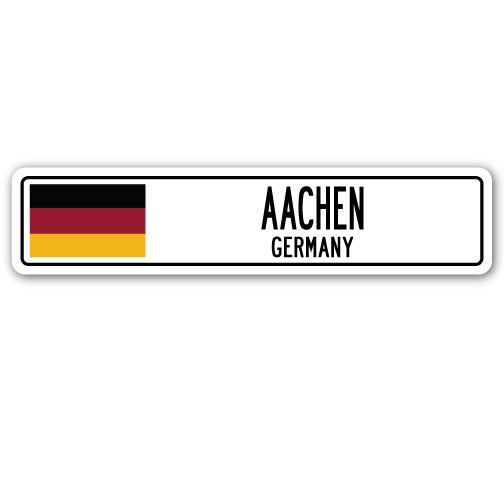 Aachen, Germany Street Vinyl Decal Sticker