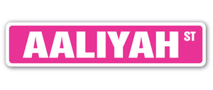 Aaliyah Street Vinyl Decal Sticker