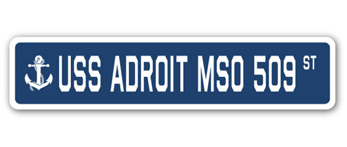 USS Adroit Mso 509 Street Vinyl Decal Sticker