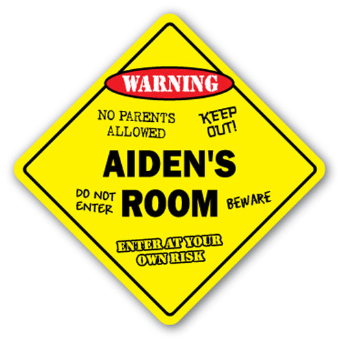 Aiden's Room Vinyl Decal Sticker