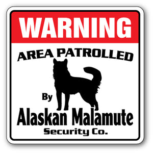 Alaskan Malamute Security Vinyl Decal Sticker