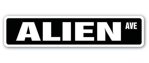 Alien Street Vinyl Decal Sticker