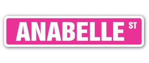 Anabelle Street Vinyl Decal Sticker