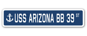 USS Arizona Bb 39 Street Vinyl Decal Sticker
