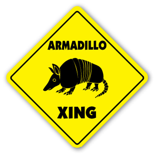 Armadillo Crossing Vinyl Decal Sticker