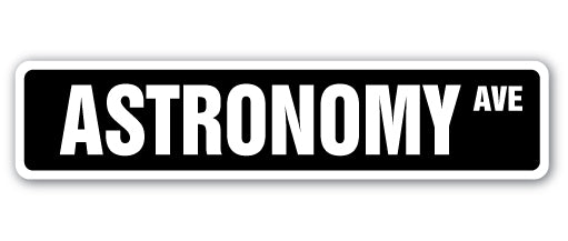 Astronomy Street Vinyl Decal Sticker