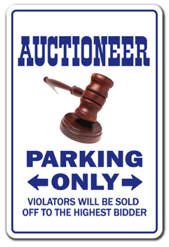 Auctioneer Vinyl Decal Sticker