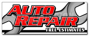 Auto Repair Free Estimat Decal