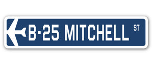 B-25 Mitchell Street Vinyl Decal Sticker