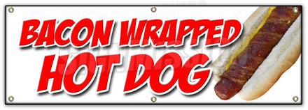 Bacon Wrapped Hot Dog Banner