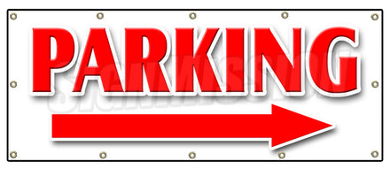 Parking Right Arrow Banner