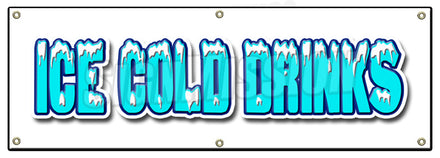 Ice Cold Drinks Banner