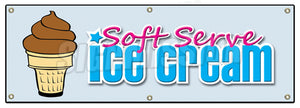 Soft Serve Chocolate Banner