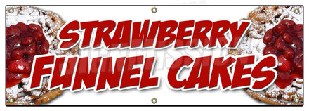Strawberry Funnel Cakes Banner