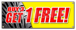Buy 3 Tires Get 1 Free Banner
