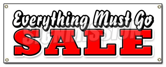 Everything Must Go Sale Banner
