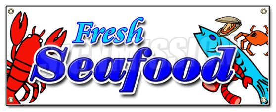 Fresh Sea Food Banner