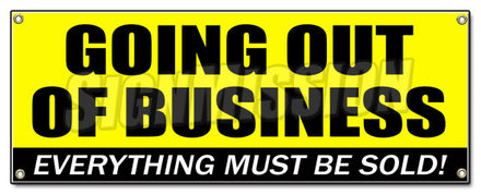 Going Out Of Business Banner