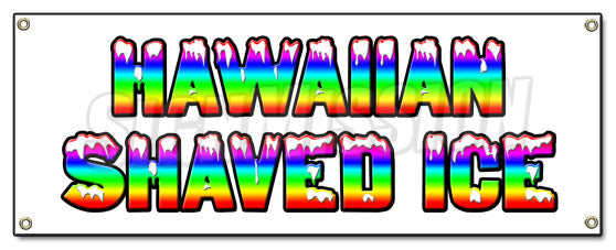 Hawaiian Shaved Ice Banner