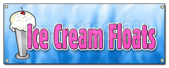Ice Cream Floats Banner